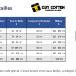 guide tailles GUY COTTEN